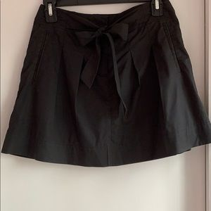 Theory black cotton mini skirt with pockets Size 0